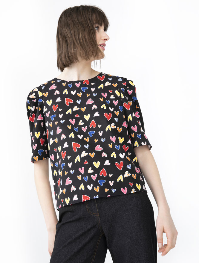 Patterned blouse iBlues