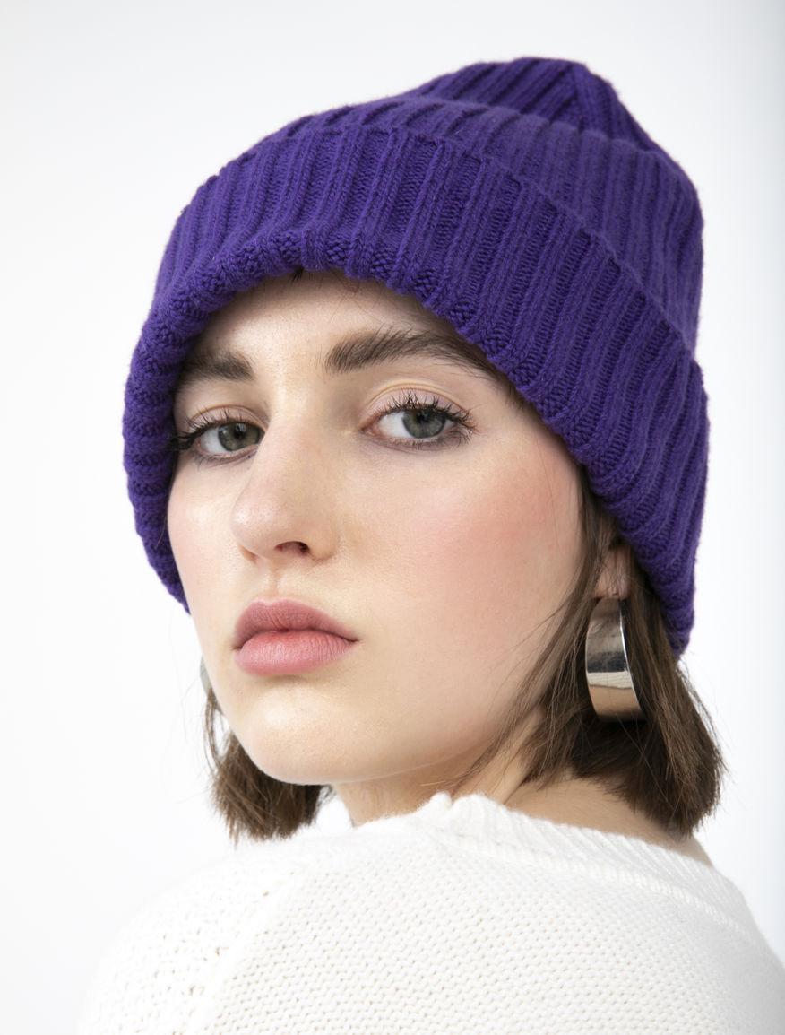 Cashmere-blend beanie