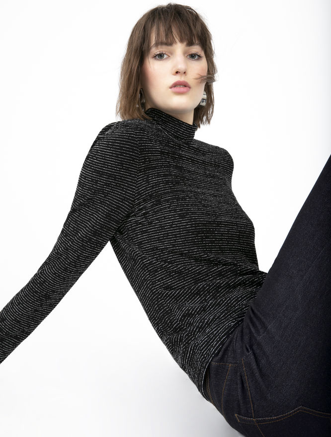 Lurex polo neck jumper iBlues