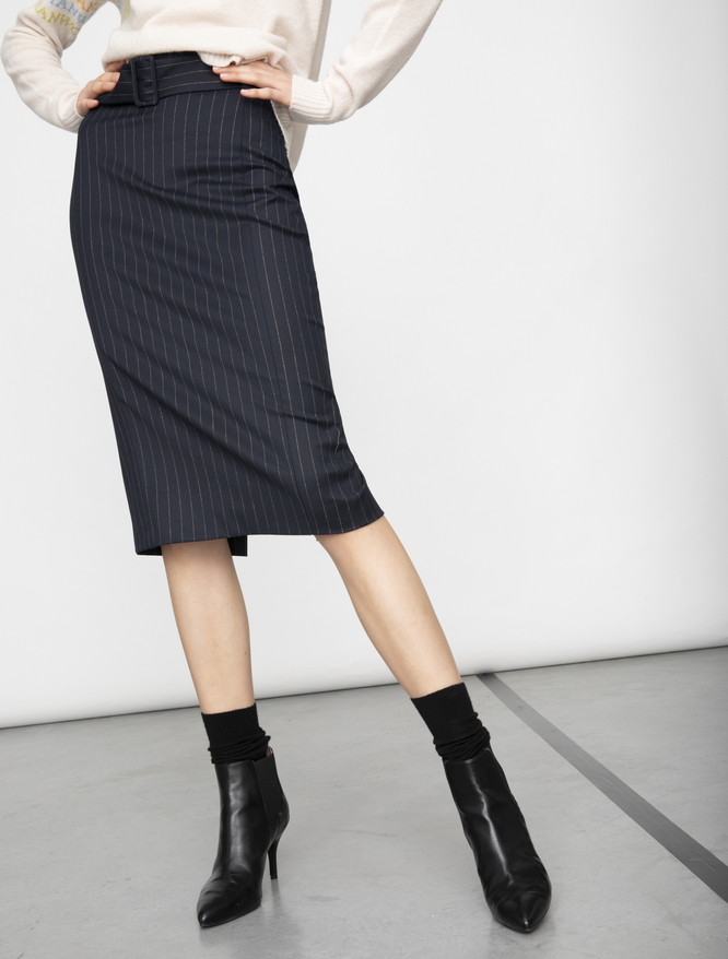 Pinstripe pencil skirt iBlues