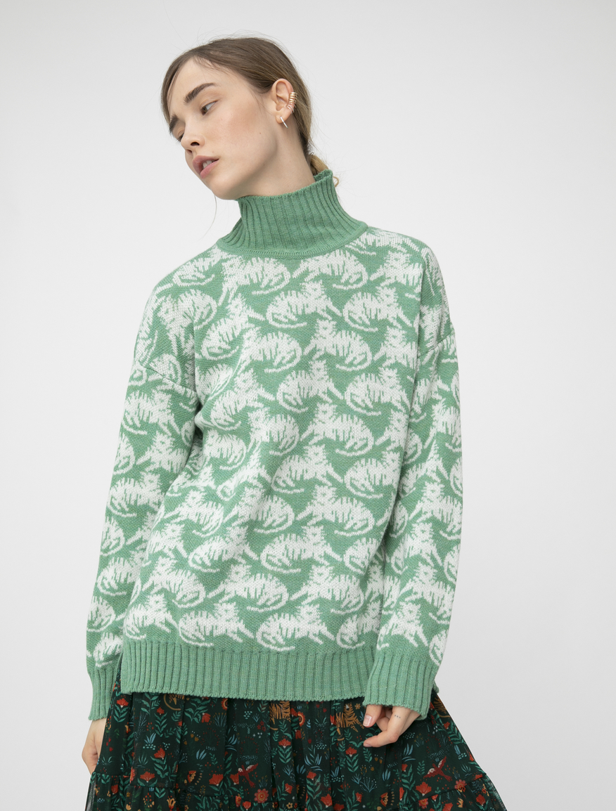 Pop-Up Stories high-neck jumper