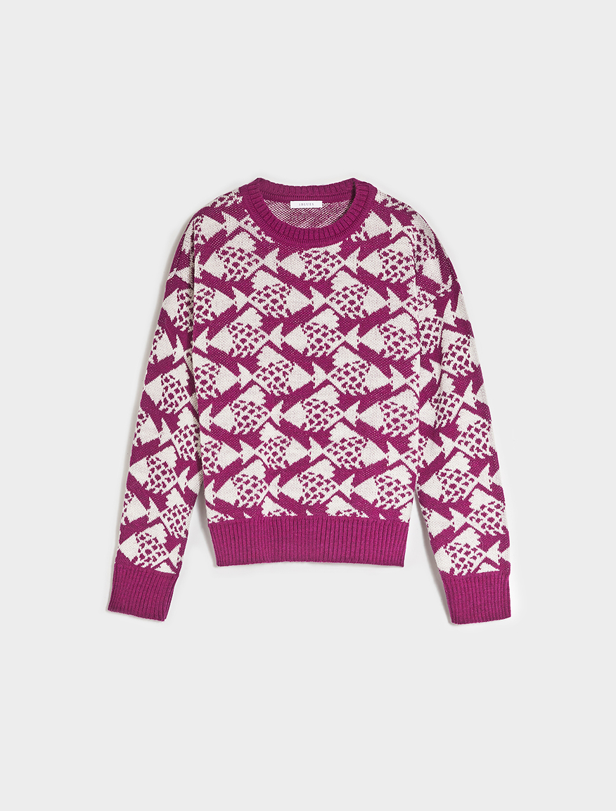 Pop-Up Stories patterned jumper