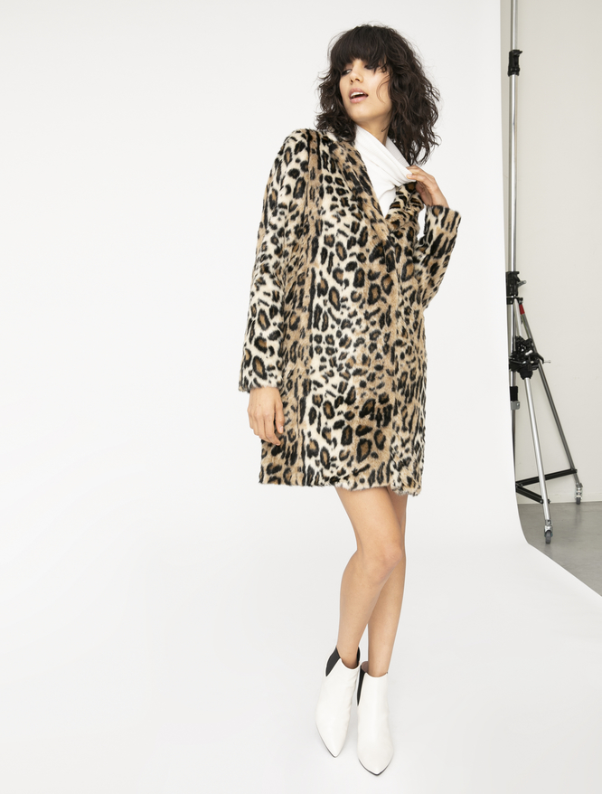 Animal print coat iBlues