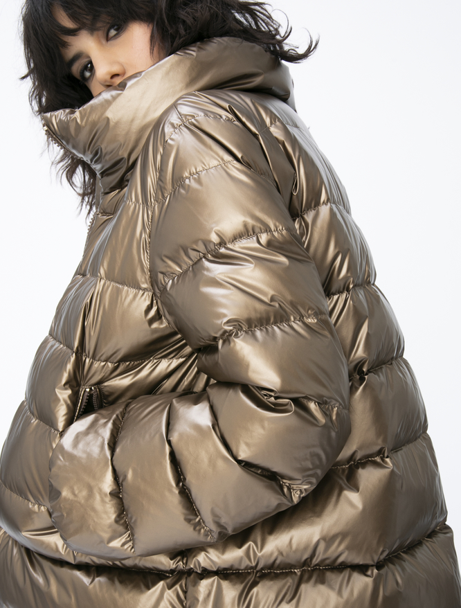 Laminated padded coat iBlues