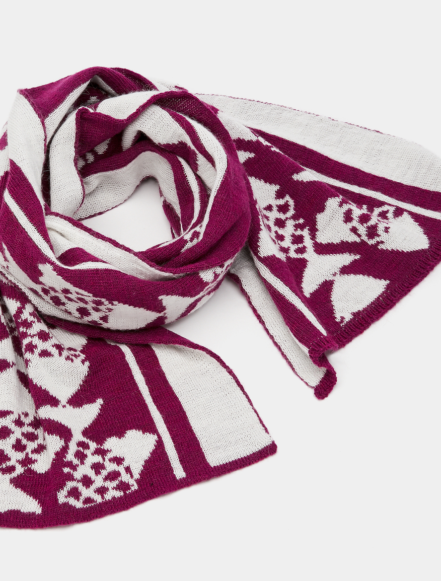 Pop-Up Stories patterned scarf