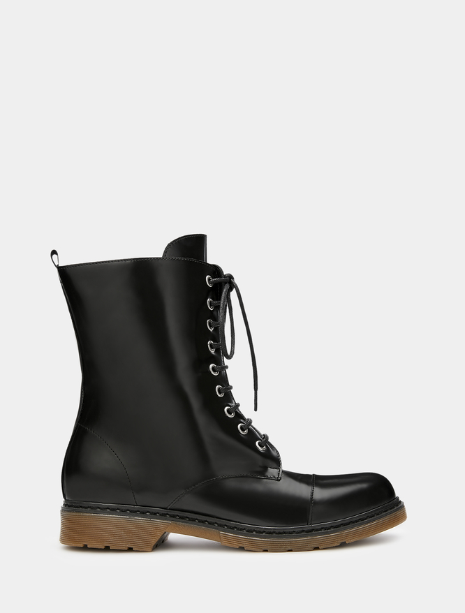 Leather combat boots iBlues