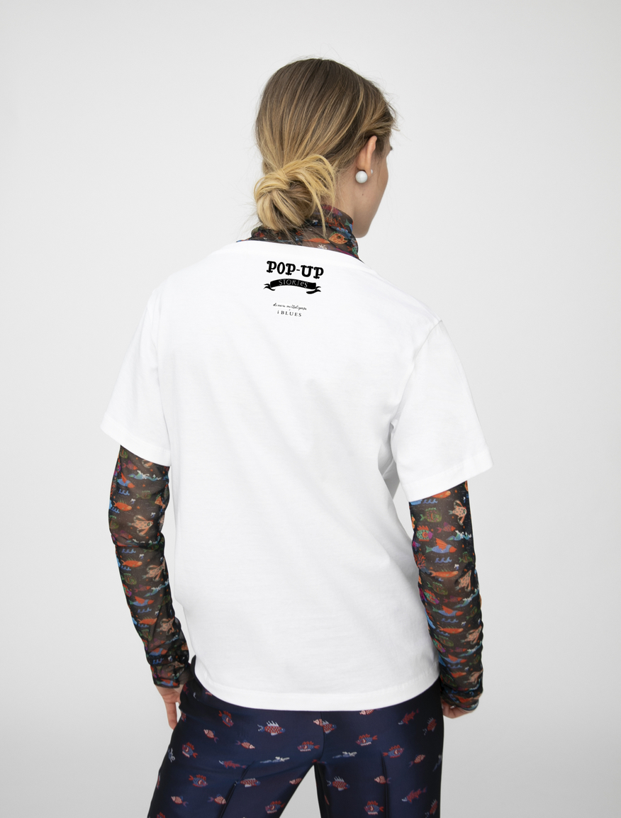 Pop-Up Stories embroidered T-shirt