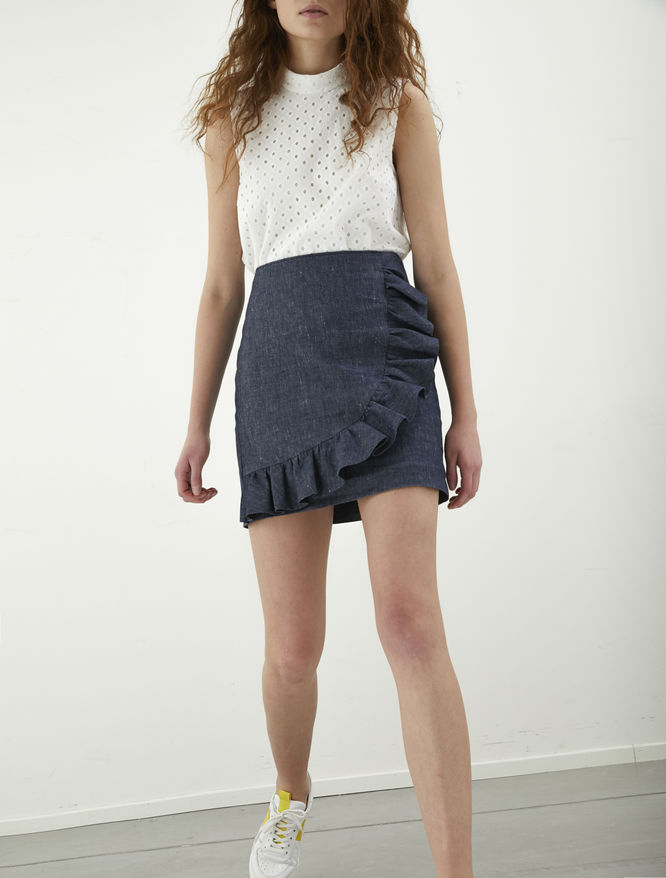 Ruffled mini skirt iBlues