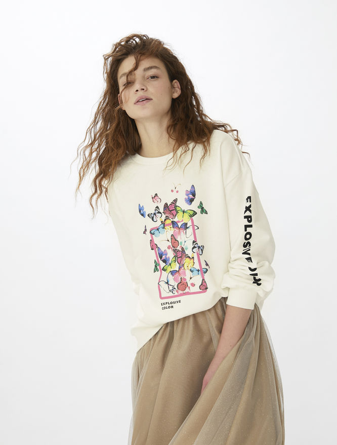Printed sweatshirt iBlues
