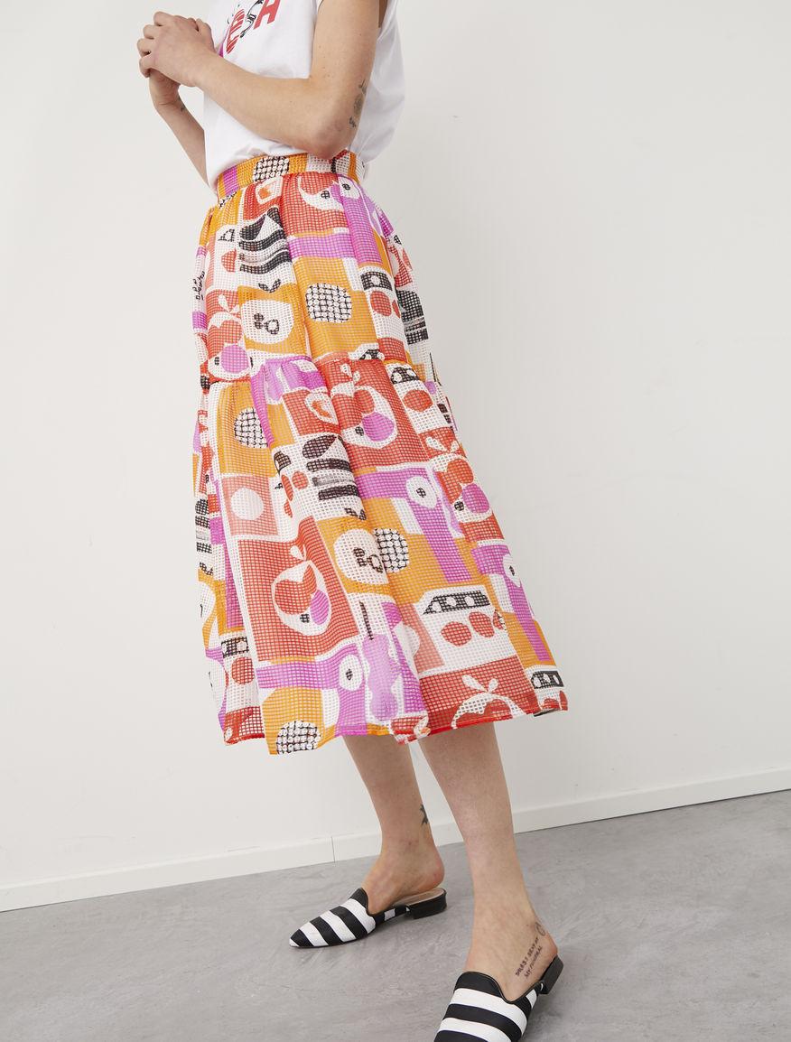 Frullage midi skirt