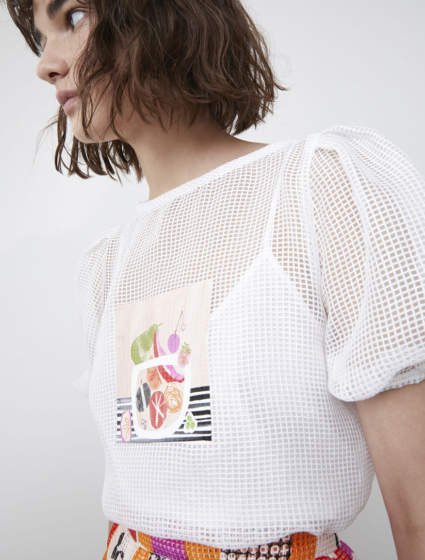 Frullage see-through blouse