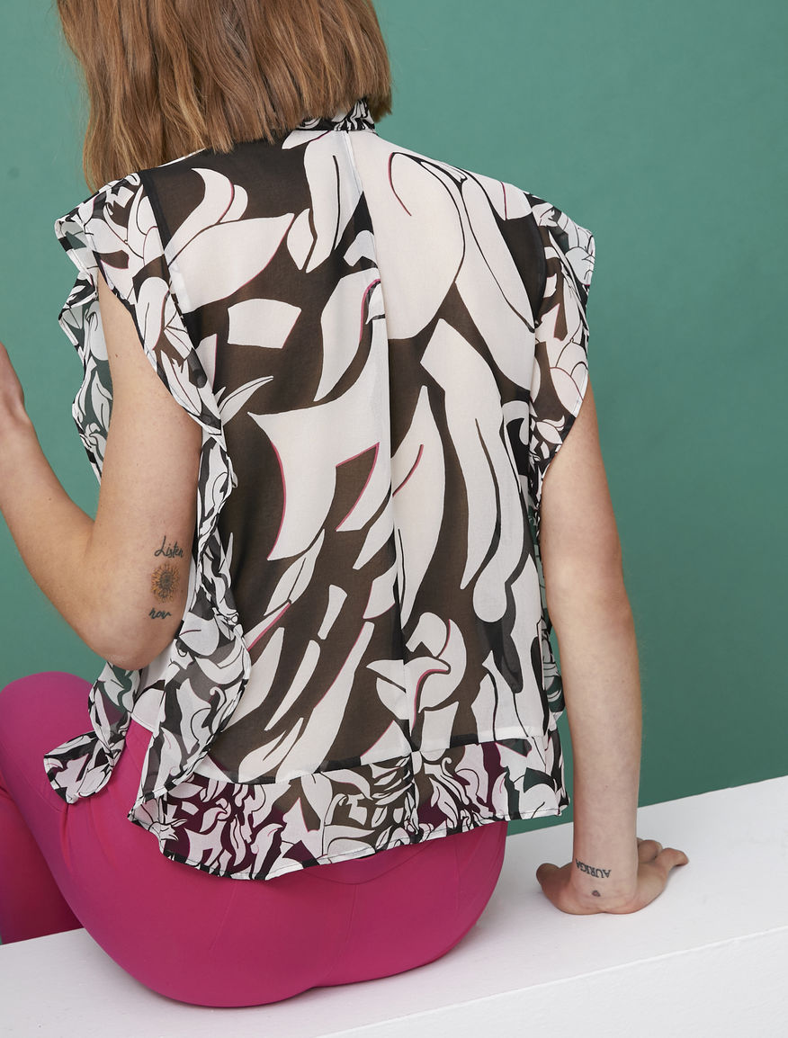 Archivio printed top