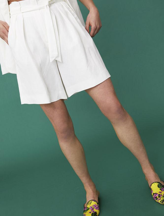 Linen blend Bermuda shorts iBlues