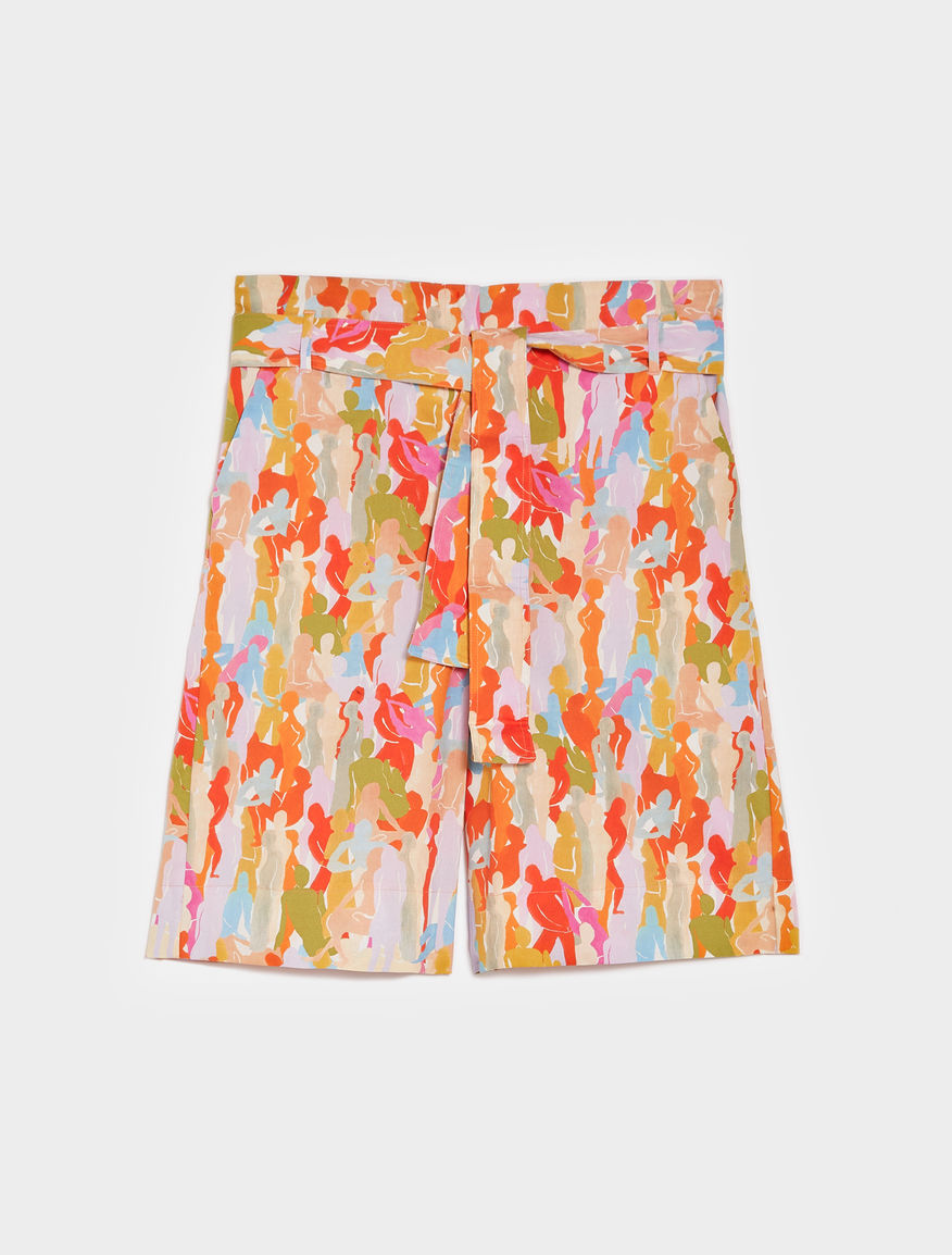 Patterned Bermuda shorts