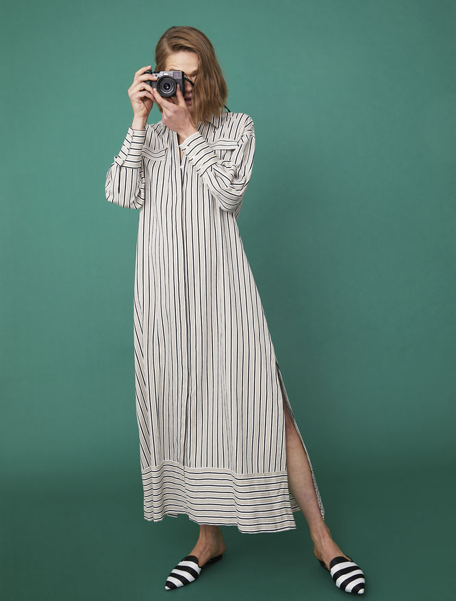 Striped dress iBlues