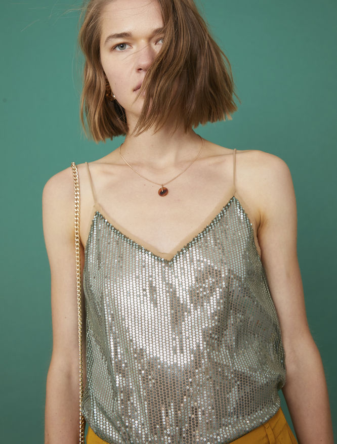 Sequinned top iBlues