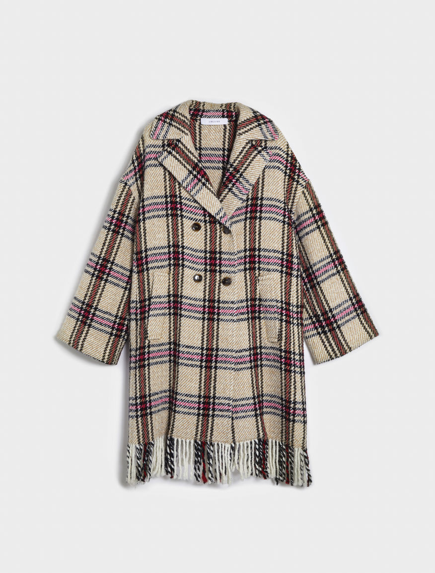 Coat with fringing