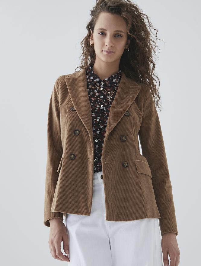 Cotton velvet jacket iBlues
