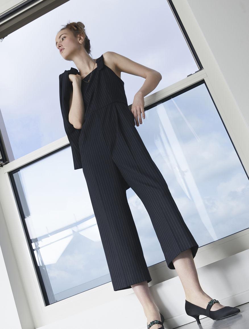 Pinstripe jumpsuit