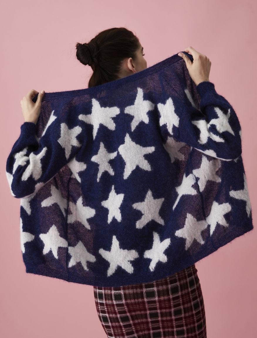 Intarsia-knit cardigan