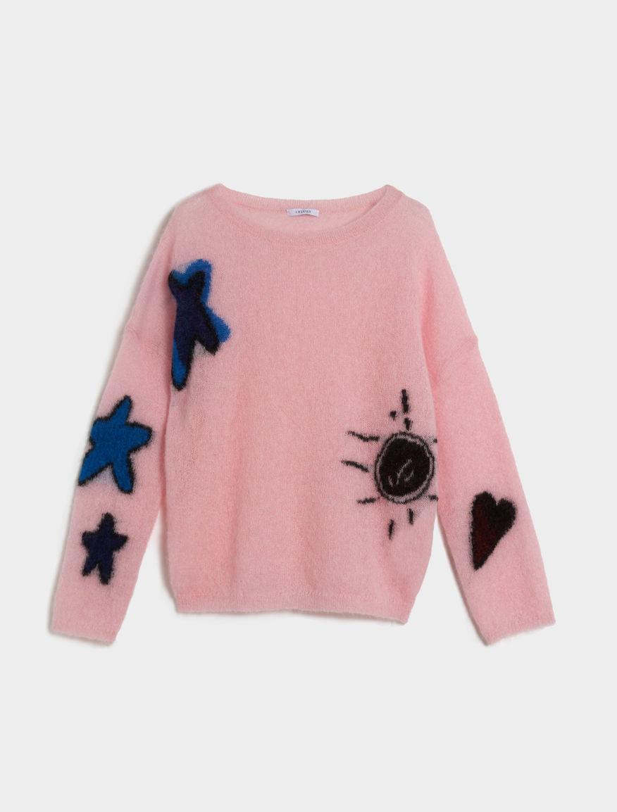 Intarsia-knit jumper