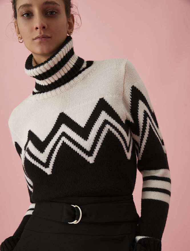 Geometric polo neck jumper iBlues