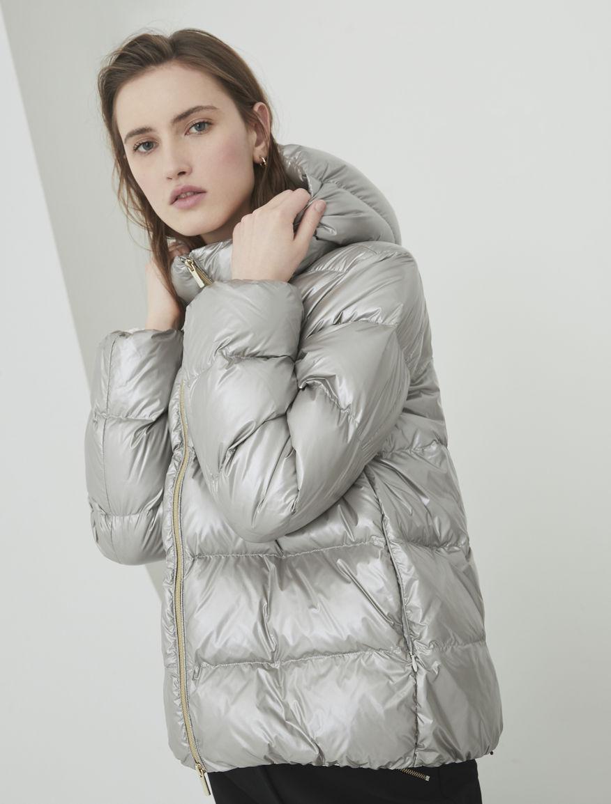 Metallic quilted jacket