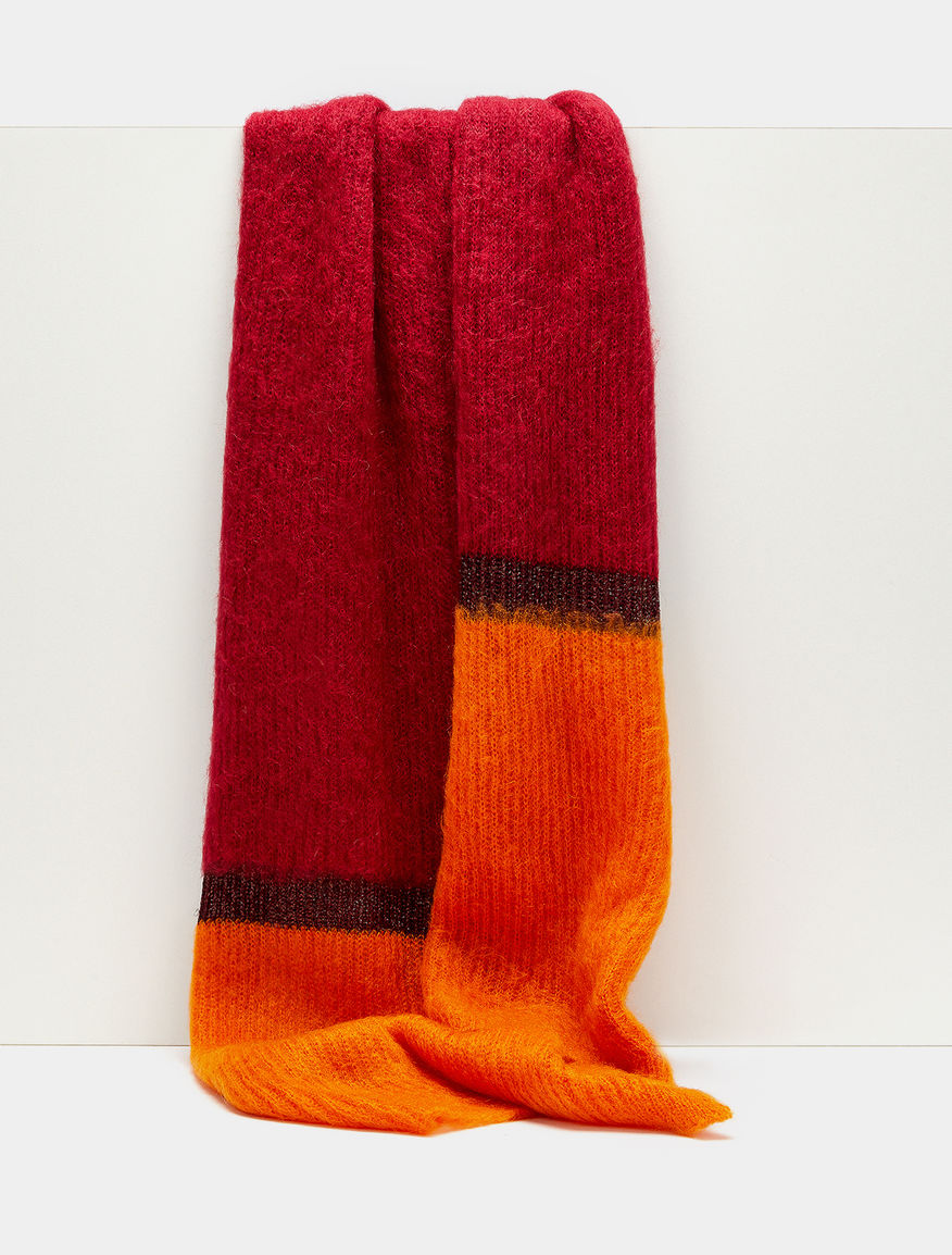Colour-block scarf
