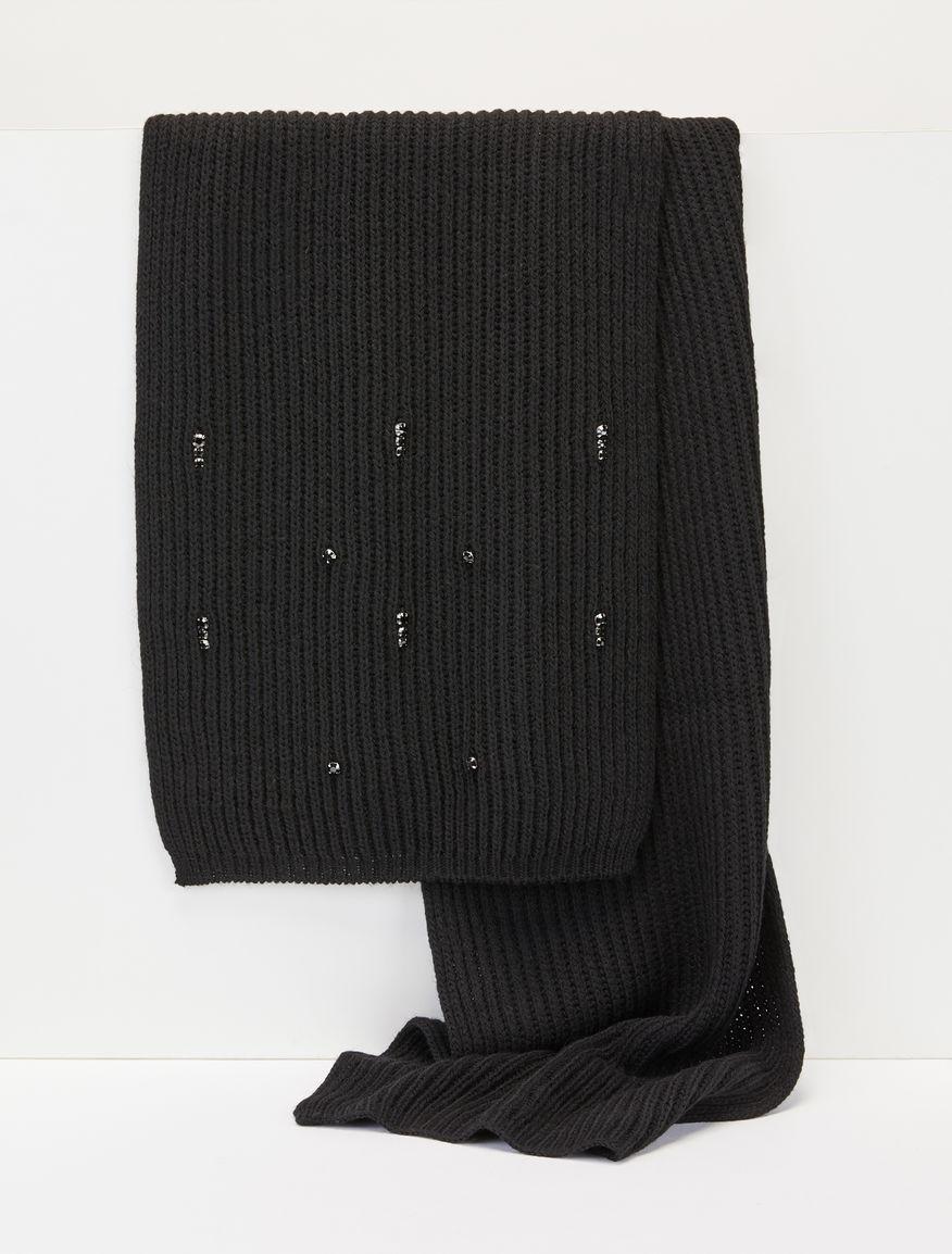 Rhinestone-embellished scarf