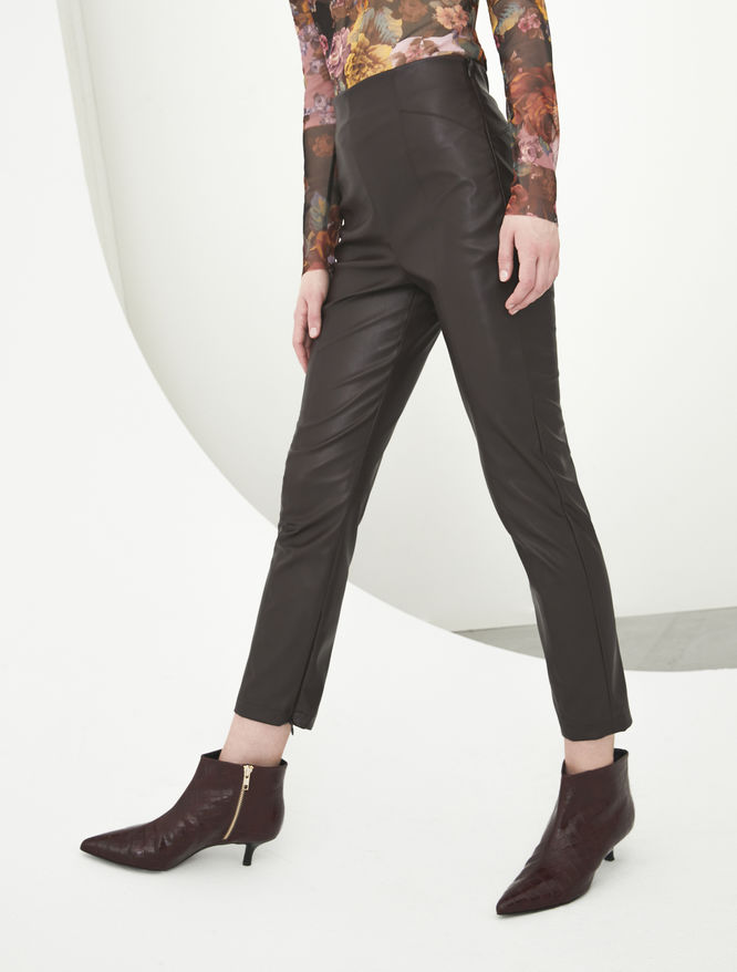 Faux leather trousers iBlues