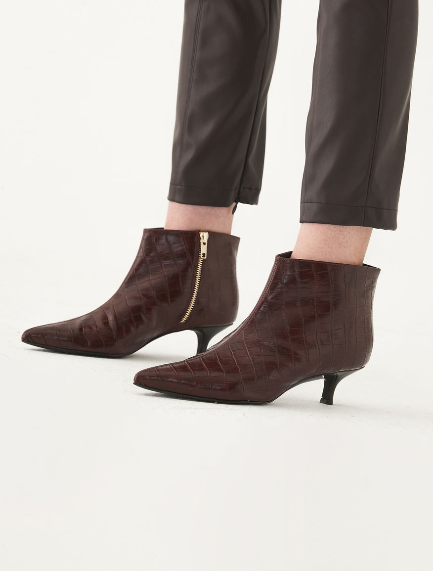 Coconut-print ankle boots