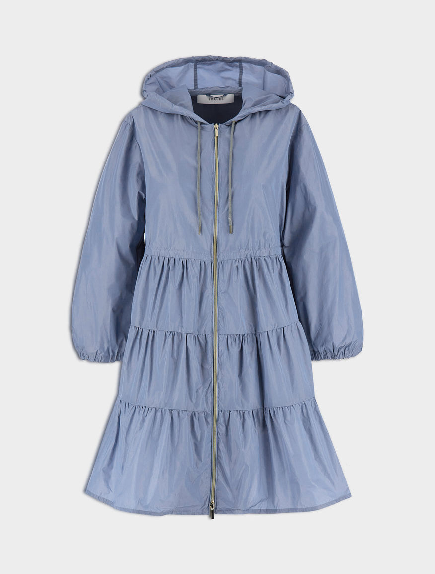 Parka with ruffles