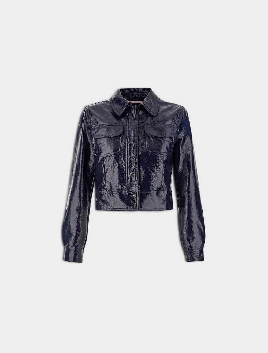 Patent leather-effect jacket