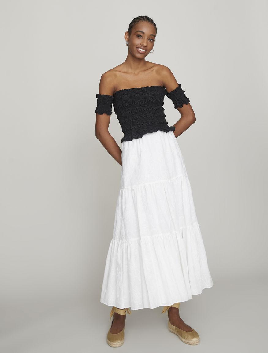 Flounced skirt