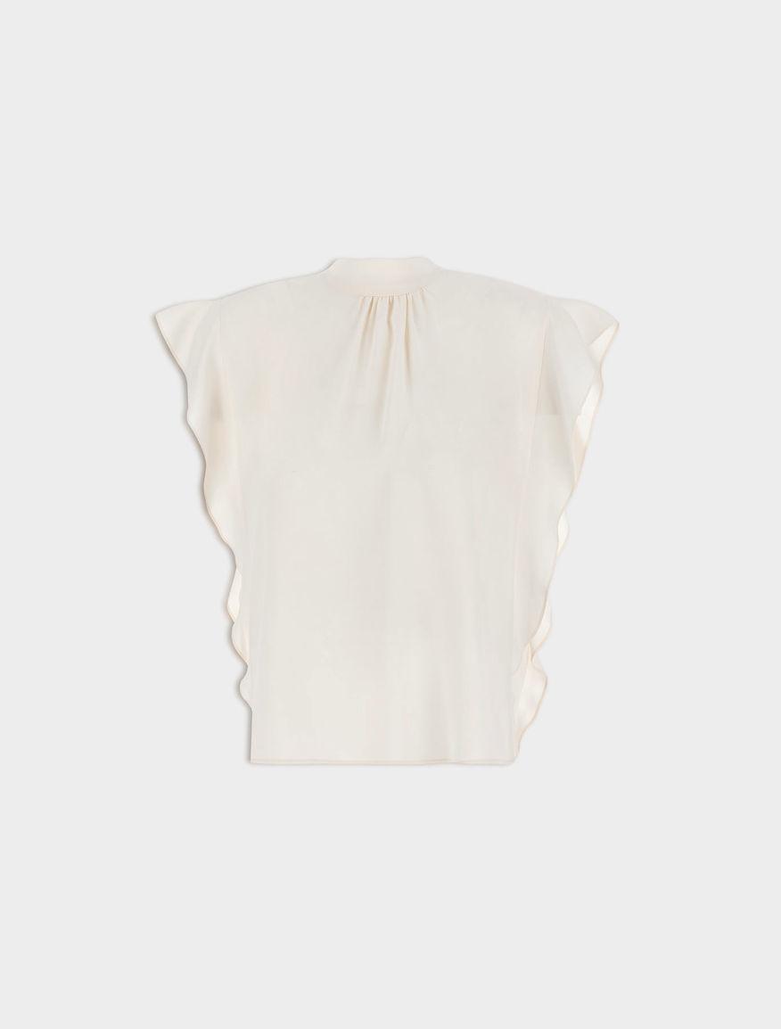 Silk-blend top