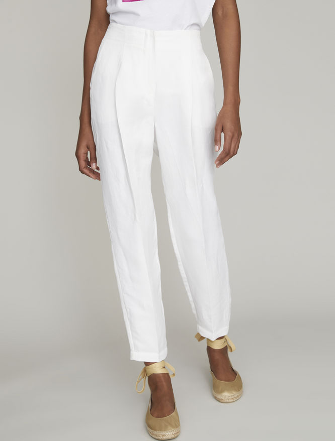 Linen blend trousers iBlues