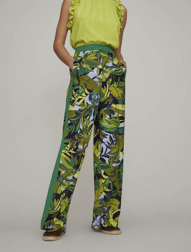 Silk blend trousers iBlues