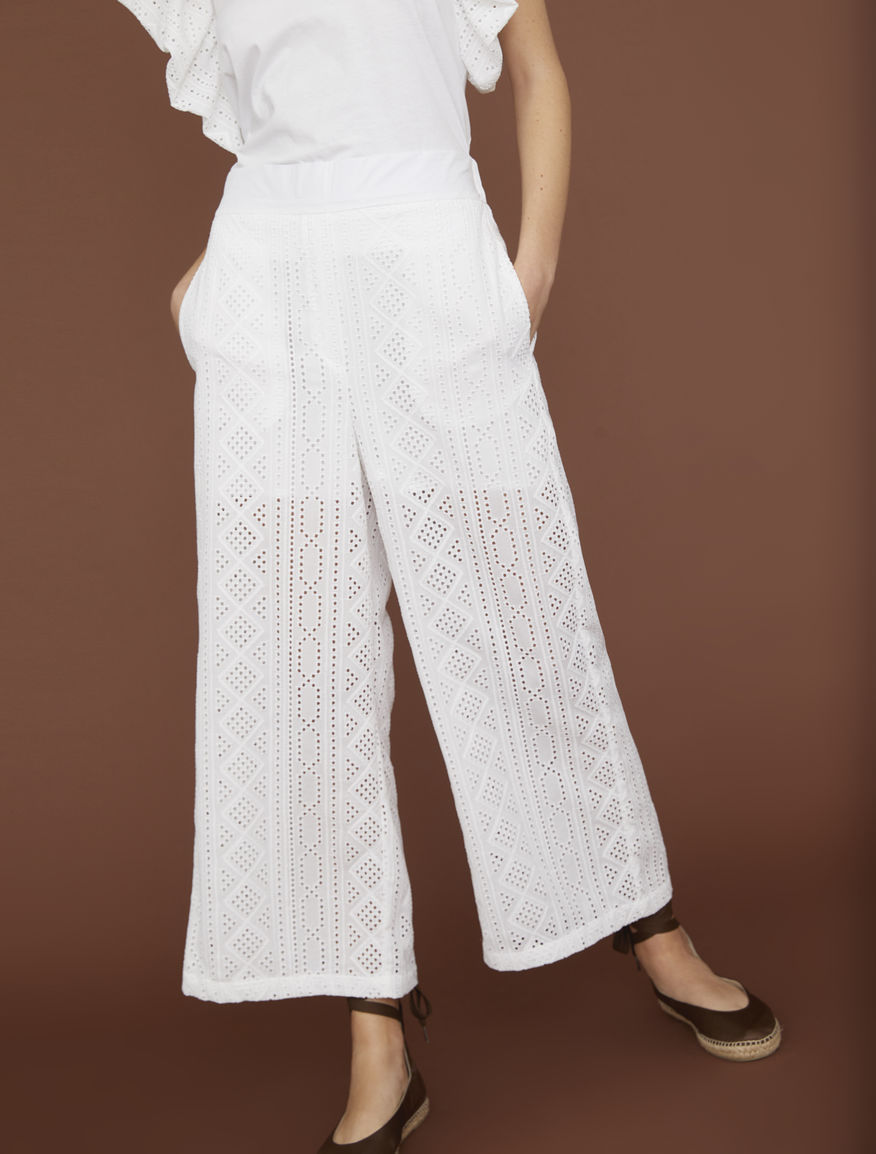 St. Gallen embroidered trousers