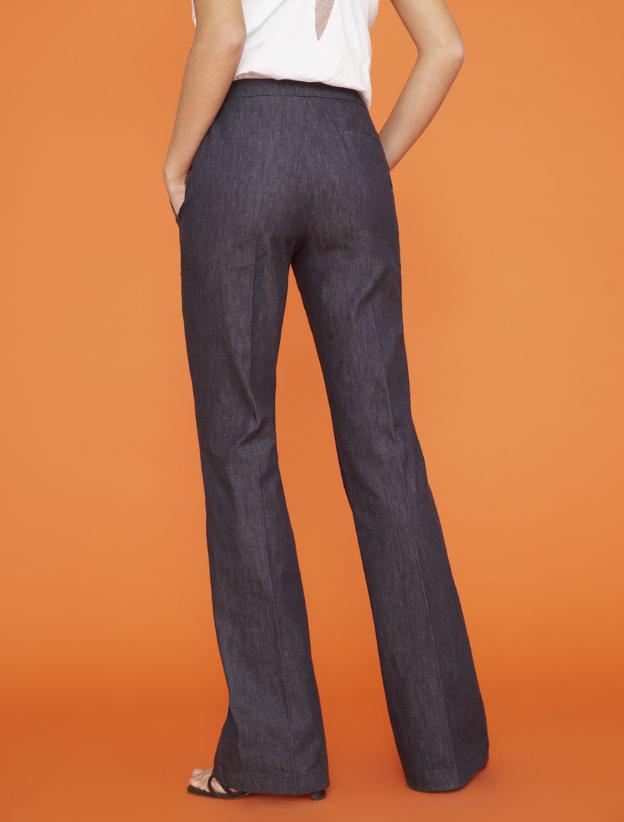 Denim-effect pants