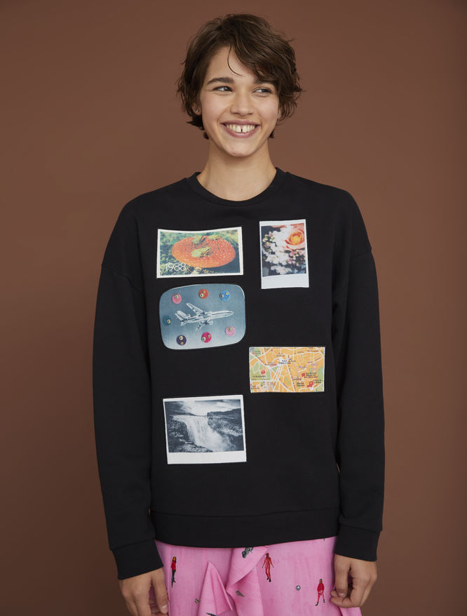 Sweatshirt with patches iBlues