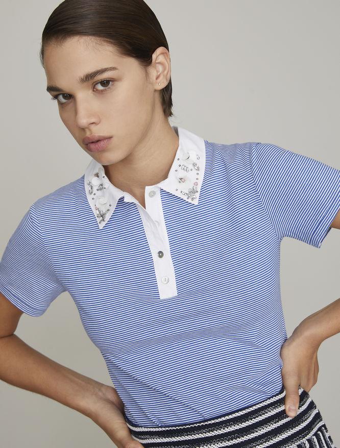 Embellished polo shirt iBlues