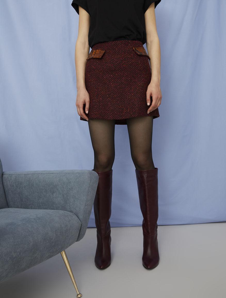 A-line mini skirt
