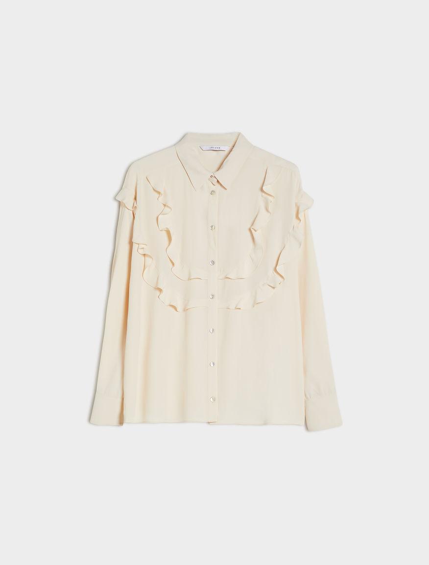 Silk-blend shirt