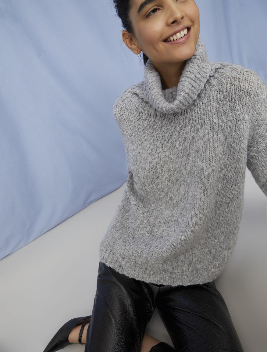 High-neck sweater