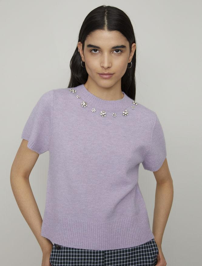 Rhinestone sweater iBlues