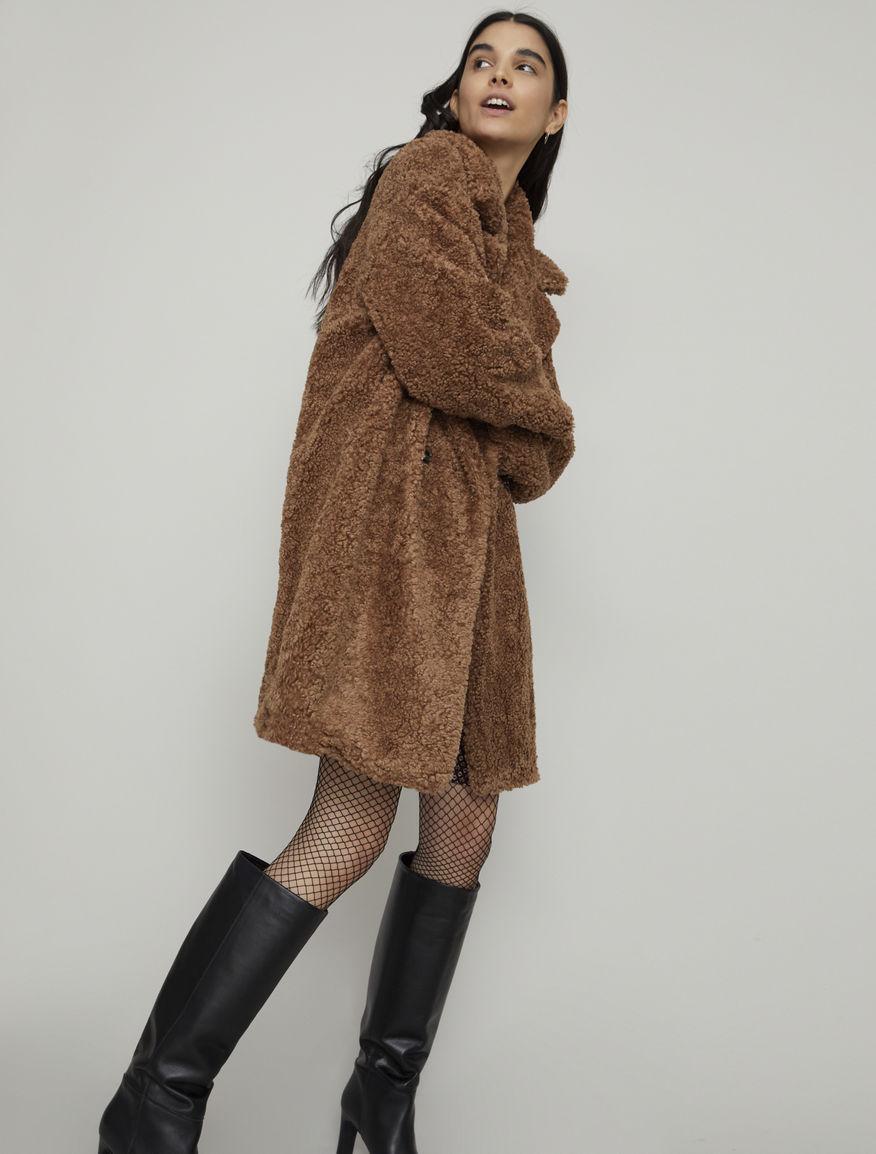 Fur-look coat