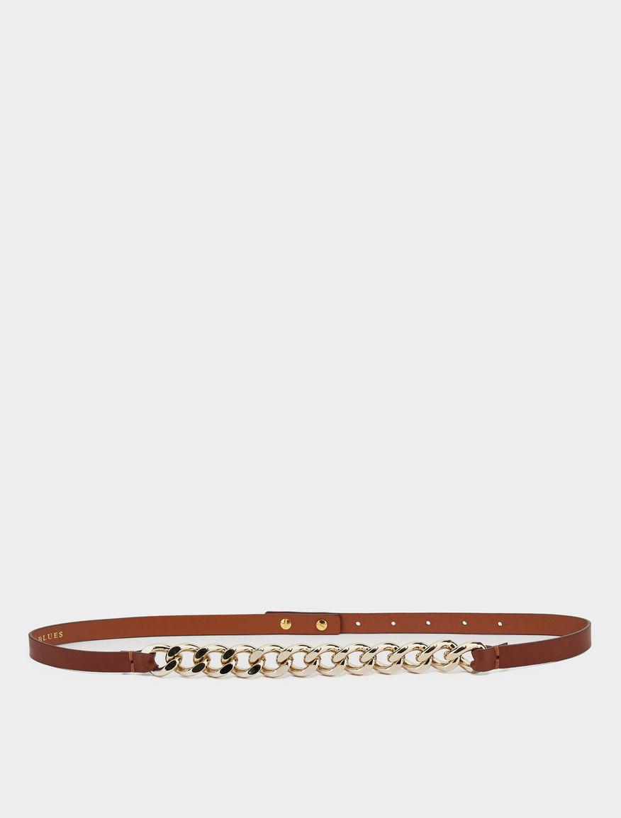 Chain-embellished belt