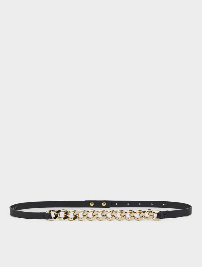 Chain-embellished belt iBlues