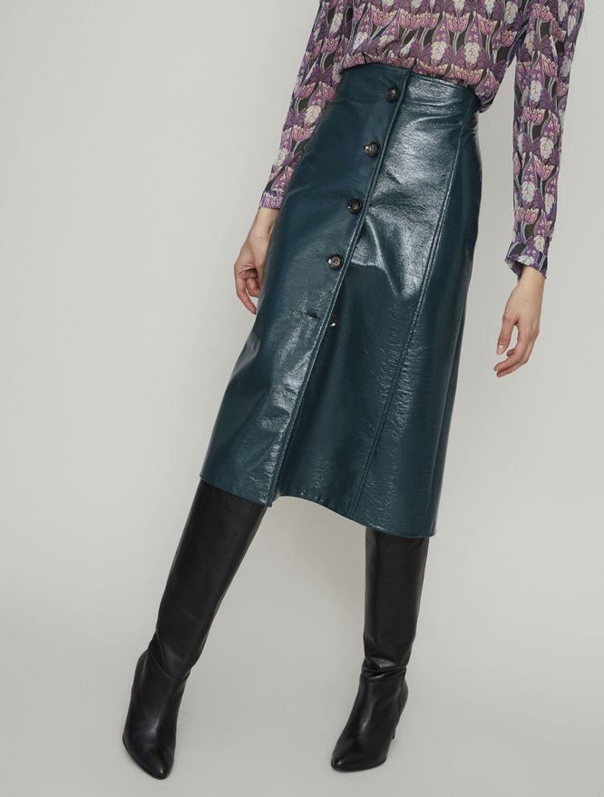 Patent leather-look skirt iBlues