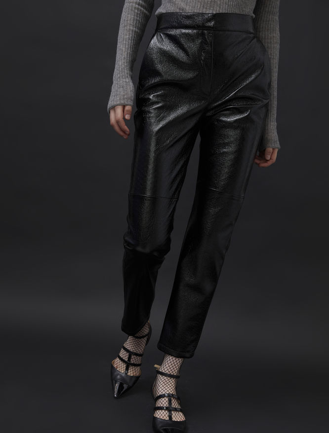 Patent-look trousers iBlues